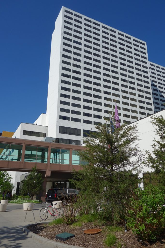 A photo of the Hyatt Regency Minneapolis conference hotel.
